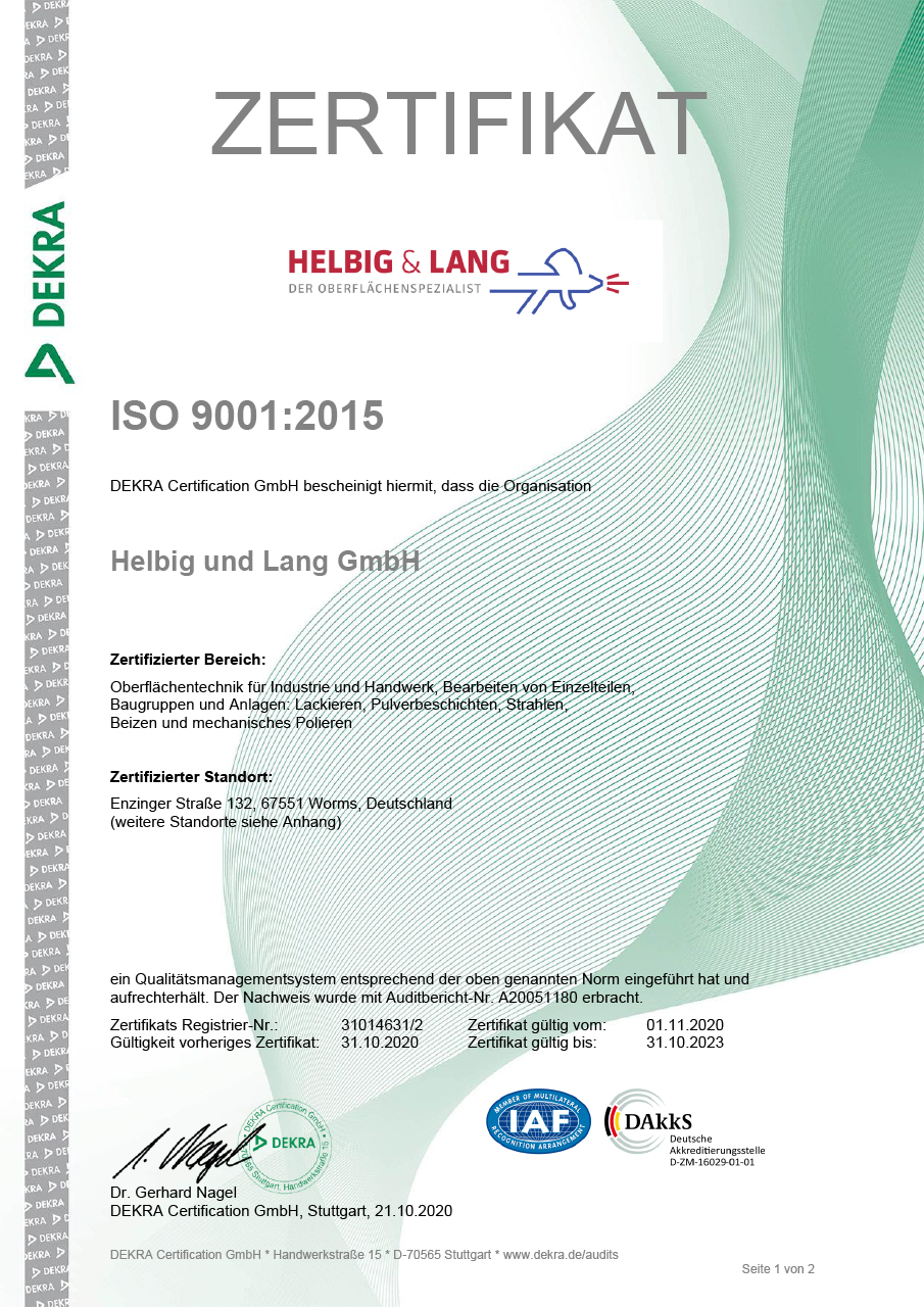 Iso certification helbig lang the surface finishing specialist din en iso 9001 2015 certificate 1betcityfo Gallery